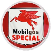 Mobilgas Vintage 82716 Round Beach Towel