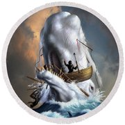 Moby Dick 1 Round Beach Towel