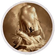 Moby Dick 2 Round Beach Towel