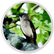 Mocking Bird Sings Round Beach Towel