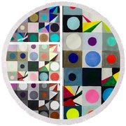 Mod Party Round Beach Towel