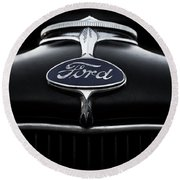 Round Beach Towel featuring the digital art Model A Ford by Douglas Pittman