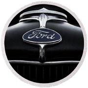 Model A Ford Round Beach Towel