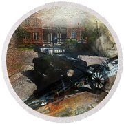 Model T Round Beach Towel