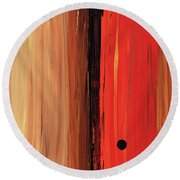 Round Beach Towel featuring the painting Modern Art - The Power Of One Panel 1 - Sharon Cummings by Sharon Cummings