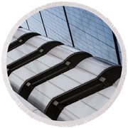 Lloyds Building Bank In London Round Beach Towel