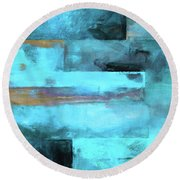 Modern Contemporary 5 Round Beach Towel