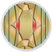 Modern Designs Vertical 4 - Chuck Staley Round Beach Towel by Chuck Staley