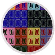 Modern Miracles Round Beach Towel