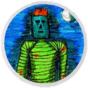 Modern Prometheus Round Beach Towel