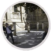 Round Beach Towel featuring the photograph Modern Times 2 - Sevilla by Madeline Ellis