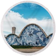 Modernist Church Of Sao Francisco De Assis In Belo Horizonte, Brazil Round Beach Towel