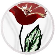 Modernized Flower Round Beach Towel