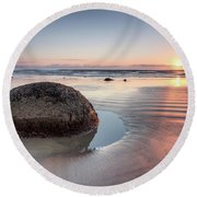Moeraki Revisited Round Beach Towel
