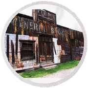 Round Beach Towel featuring the photograph Mogollon General Store by Natalie Ortiz