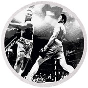 Mohamed Ali Float Like A Butterfly Round Beach Towel