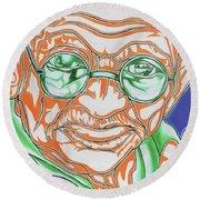 Round Beach Towel featuring the photograph Mohandas Karamchand Gandhi  by Juergen Weiss