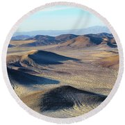 Round Beach Towel featuring the photograph Mojave Desert by Jim Thompson