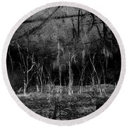Round Beach Towel featuring the photograph Mokoan by Linda Lees