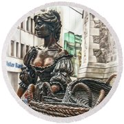 Round Beach Towel featuring the photograph Molly Malone by Hanny Heim