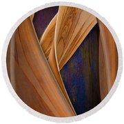 Molten Wood Round Beach Towel