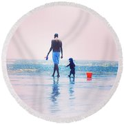 Moment Round Beach Towel