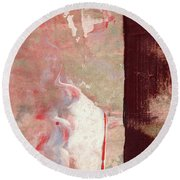 Moment Of Glory - Large Triptych - Panel 2 Of 3 Round Beach Towel