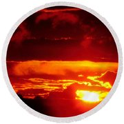 Moment Of Majesty Round Beach Towel