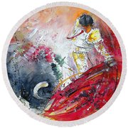 Moment Of Truth 2010 Round Beach Towel