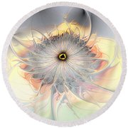 Momentary Intimacy Round Beach Towel by Casey Kotas