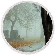 Moments Alone Round Beach Towel