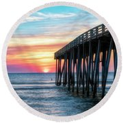 Moments Captured Round Beach Towel