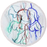 Moments In Time No 2 Round Beach Towel