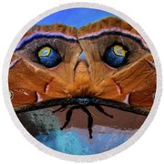 Round Beach Towel featuring the photograph Moments We Cherish by Karen Wiles
