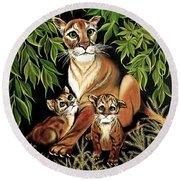 Momma's Pride And Joy Round Beach Towel by Adele Moscaritolo