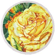 Mom's Golden Glory Round Beach Towel