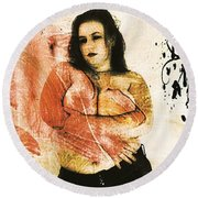 Mona 2 Round Beach Towel
