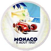 Monaco 1937 Round Beach Towel