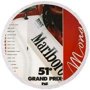 Monaco F1 1993 Round Beach Towel