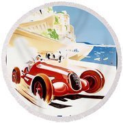 Monaco Grand Prix 1937 Round Beach Towel