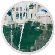 Round Beach Towel featuring the photograph Monaco Reflection by Keith Armstrong