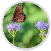 Monarch Butterfly 7476-101017-2cr Round Beach Towel