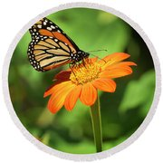 Monarch Butterfly II Vertical Round Beach Towel