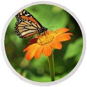 Monarch Butterfly II Vertical Round Beach Towel