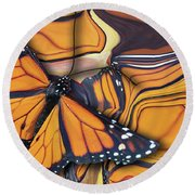 Monarch Flight Round Beach Towel