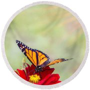 Monarch Magic Round Beach Towel