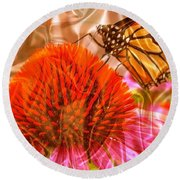 Monarch Mirage Round Beach Towel