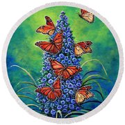 Monarch Waystation Round Beach Towel