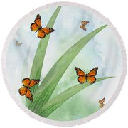 Monarchs Round Beach Towel