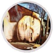 Mona's Facial Expression Round Beach Towel